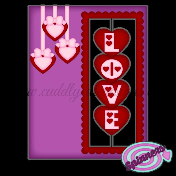 Spinner Card - Hearts