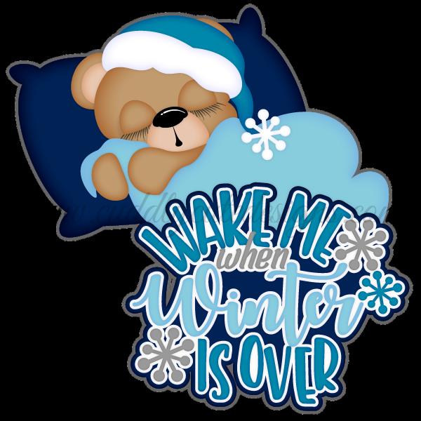 Sleeping Winter Bear