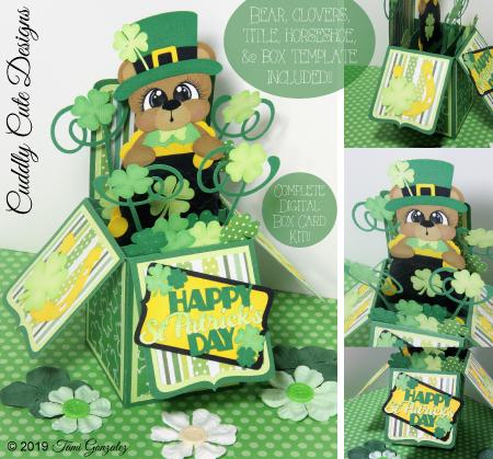 St Patrick's Card Box