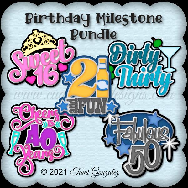 Birthday Milestone Bundle