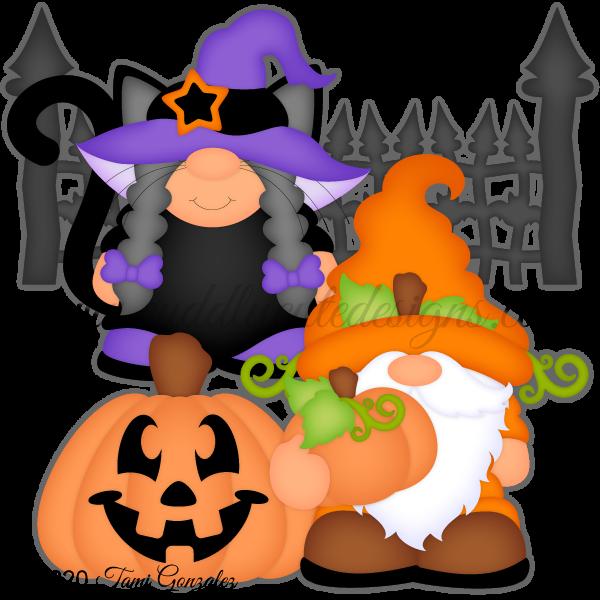 Cat & Pumpkin Gnomes