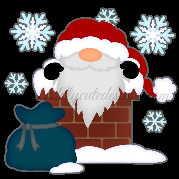 Chimney Santa Gnome