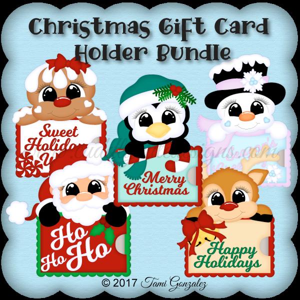 Christmas Gift Card Holder Bundle