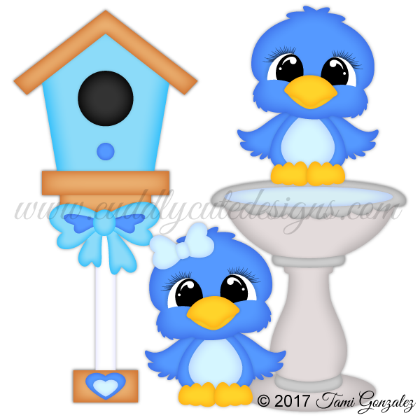 CutieKins-Blue Birds