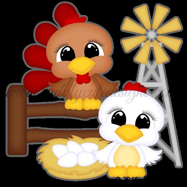 CutieKins-Chicken & Rooster