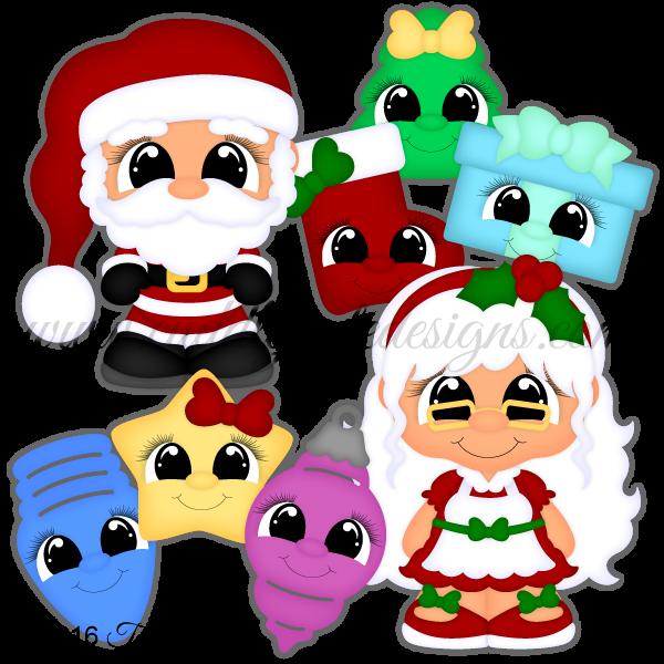 CutieKins-Santa & Mrs Claus