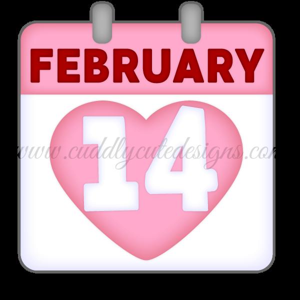 February 14 Calendar Page
