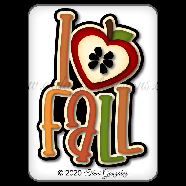 I Love Fall Title