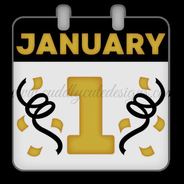 January 1st Calendar Page