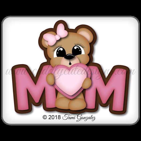 Mom Girl Bear Title