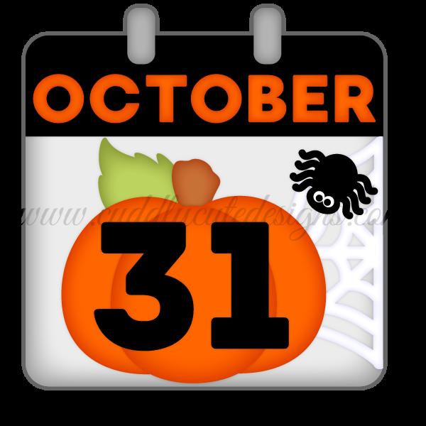 October 31st Calendar Page