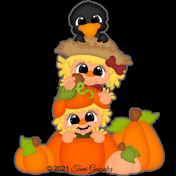 Peek a Boo Scarecrows
