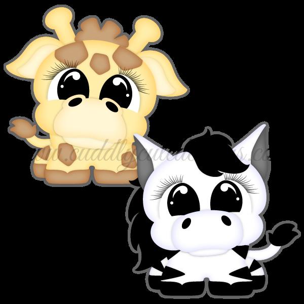 Pudgies - Giraffe & Zebra