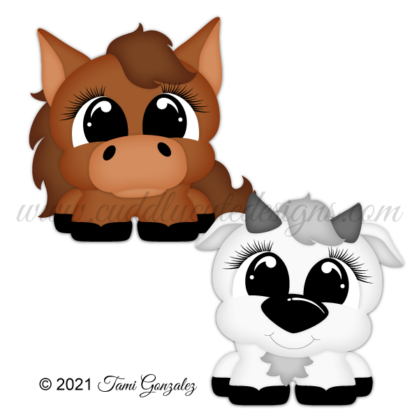 Pudgies - Horse & Goat
