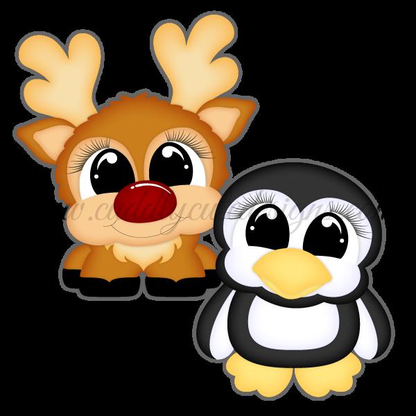 Pudgies - Reindeer & Penguin