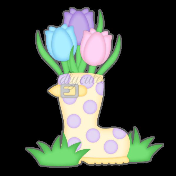 Rain Boot Tulips