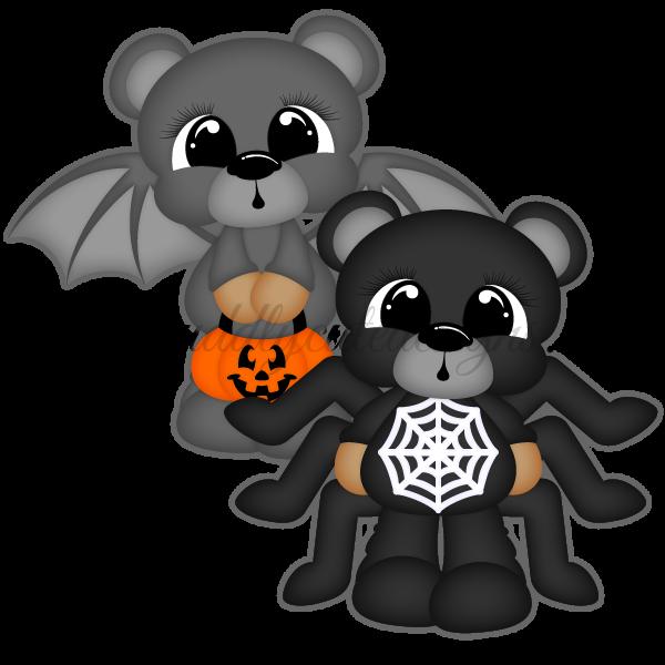 Scare Bears - Bat & Spider