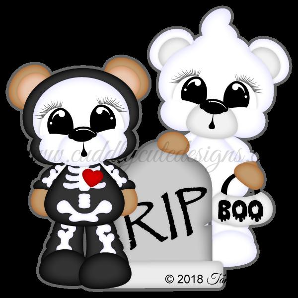 Scare Bears - Skeleton & Ghost