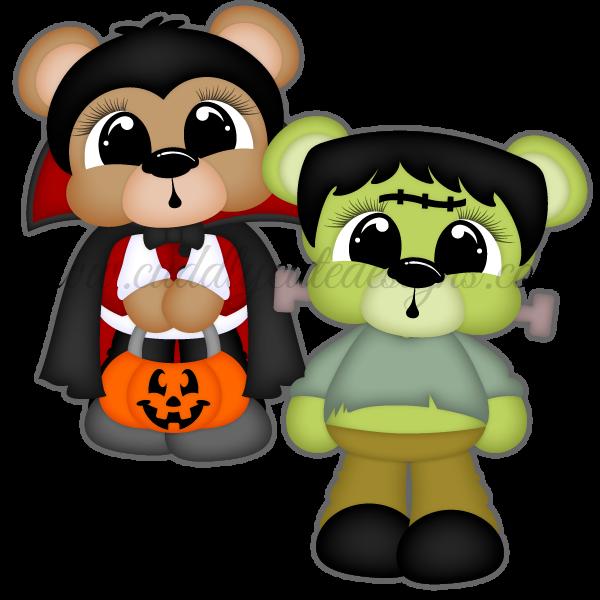Scare Bears - Vampire & Frankenstein