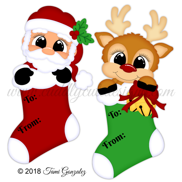 Stocking Tags - Santa & Reindeer
