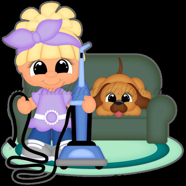 Vacuuming Cutie